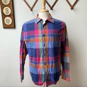 Ben Sherman Madras Plaid Button Down Shirt